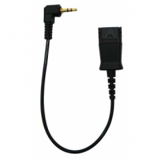 "Cable 18"", Right angle plug, QD to 2.5mm for Uniden/ Panasonic"